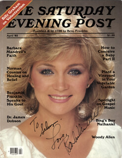 BARBARA MANDRELL - INSCRIBED MAGAZINE COVER SIGNED