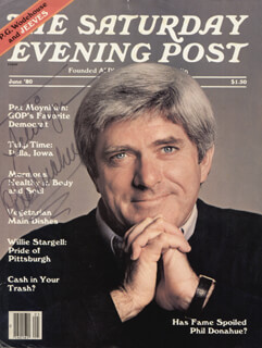 PHIL DONAHUE - INSCRIBED MAGAZINE COVER SIGNED