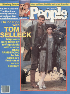 TOM SELLECK - INSCRIBED MAGAZINE COVER SIGNED