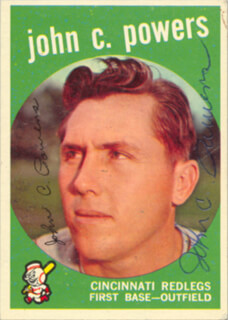 JOHN C. POWERS - TRADING/SPORTS CARD SIGNED