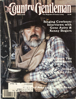 KENNY ROGERS - INSCRIBED MAGAZINE COVER SIGNED