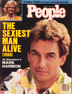 MARK HARMON - INSCRIBED MAGAZINE COVER SIGNED