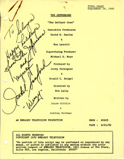 ISABEL WEEZY SANFORD - INSCRIBED SCRIPT SIGNED CIRCA 1982