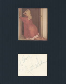 MAMIE VAN DOREN - INSCRIBED SIGNATURE