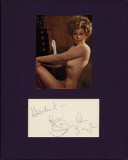 SUE ANE LANGDON - INSCRIBED SIGNATURE