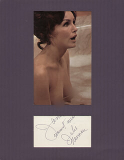 JULIE NEWMAR - INSCRIBED SIGNATURE