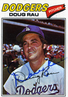 DOUG RAU - TRADING/SPORTS CARD SIGNED