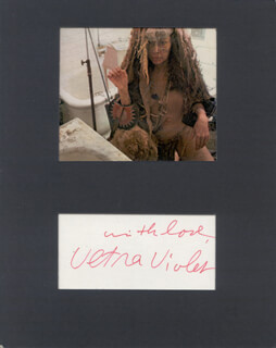 ULTRA (ISABELLE COLLIN DUFRESNE) VIOLET - AUTOGRAPH SENTIMENT SIGNED