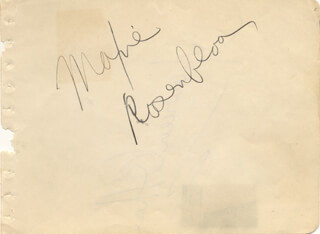MAXIE SLAPSIE MAXIE ROSENBLOOM - AUTOGRAPH CO-SIGNED BY: MAUREEN O'HARA