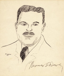GOVERNOR THOMAS E. DEWEY - ILLUSTRATION SIGNED CIRCA 1942