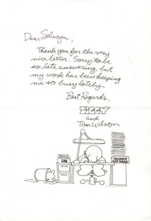 TOM WILSON - AUTOGRAPH LETTER SIGNED