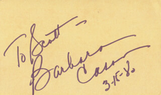 BARBARA CASON - INSCRIBED SIGNATURE 03/15/1980