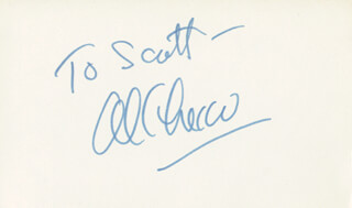 AL CHECCO - INSCRIBED SIGNATURE CIRCA 1977
