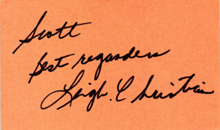 LEIGH CHRISTIAN - AUTOGRAPH NOTE SIGNED CIRCA 1983