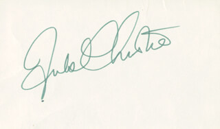 JULIE CHRISTIE - AUTOGRAPH