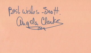 ANGELA CLARKE - AUTOGRAPH NOTE SIGNED 03/13/1977