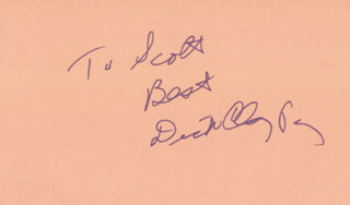 RICHARD DICK CLAYTON - AUTOGRAPH NOTE SIGNED