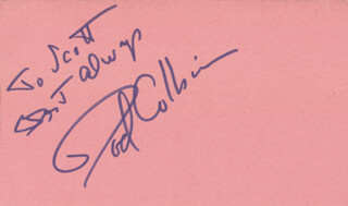ROD COLBIN - AUTOGRAPH NOTE SIGNED