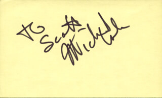 MICHAEL COLE - INSCRIBED SIGNATURE CIRCA 1983