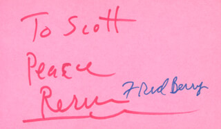 FRED BERRY - INSCRIBED SIGNATURE CIRCA 1977