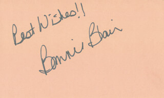 Autographs: BONNIE BLAIR - AUTOGRAPH SENTIMENT SIGNED