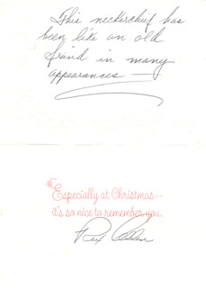 Autographs: REX ALLEN - CHRISTMAS / HOLIDAY CARD SIGNED