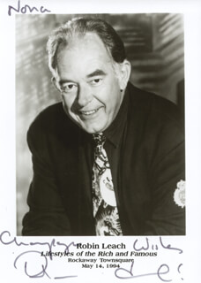 ROBIN LEACH - AUTOGRAPHED INSCRIBED PHOTOGRAPH