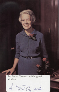 MARGARET CHASE SMITH - INSCRIBED PICTURE POSTCARD SIGNED