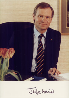 JEFFREY ARCHER - AUTOGRAPHED SIGNED PHOTOGRAPH