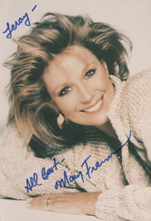 MARY FRANN - AUTOGRAPHED INSCRIBED PHOTOGRAPH