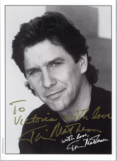 TIM MATHESON - AUTOGRAPHED INSCRIBED PHOTOGRAPH