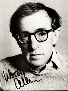 WOODY ALLEN - PICTURE POST CARD SIGNED