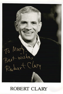ROBERT CLARY - INSCRIBED PRINTED PHOTOGRAPH SIGNED IN INK
