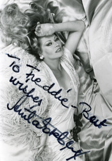 ANITA EKBERG - AUTOGRAPHED INSCRIBED PHOTOGRAPH
