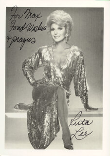 RUTA LEE - AUTOGRAPHED INSCRIBED PHOTOGRAPH