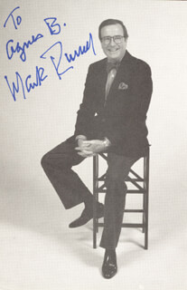 MARK RUSSELL - AUTOGRAPHED INSCRIBED PHOTOGRAPH