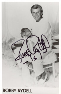 BOBBY RYDELL - AUTOGRAPHED SIGNED PHOTOGRAPH 1973