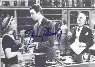 JAMES JIMMY STEWART - AUTOGRAPHED SIGNED PHOTOGRAPH