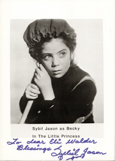 SYBIL JASON - AUTOGRAPHED INSCRIBED PHOTOGRAPH