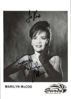 MARILYN McCOO - AUTOGRAPHED INSCRIBED PHOTOGRAPH