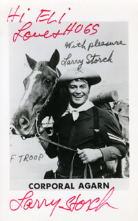LARRY STORCH - INSCRIBED PRINTED PHOTOGRAPH SIGNED IN INK