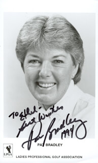 PAT BRADLEY - AUTOGRAPHED INSCRIBED PHOTOGRAPH 1994