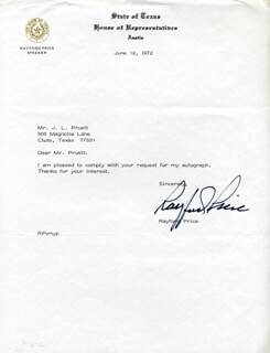 RAYFORD PRICE - TYPED NOTE SIGNED 06/12/1972