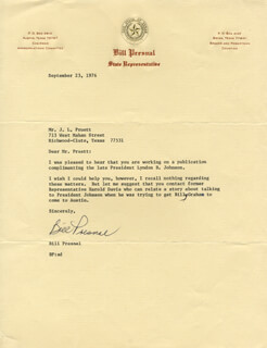 BILL PRESNAL - TYPED LETTER SIGNED 09/23/1976