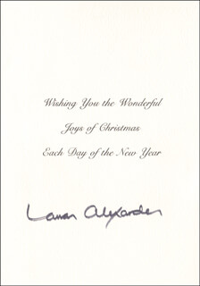 Autographs: LAMAR ALEXANDER - CHRISTMAS / HOLIDAY CARD SIGNED