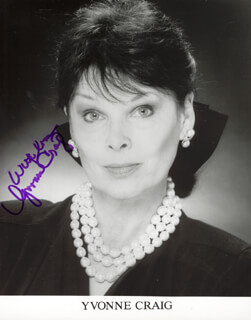 YVONNE CRAIG - PRINTED PHOTOGRAPH SIGNED IN INK
