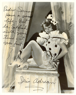 IRIS ADRIAN - AUTOGRAPHED INSCRIBED PHOTOGRAPH