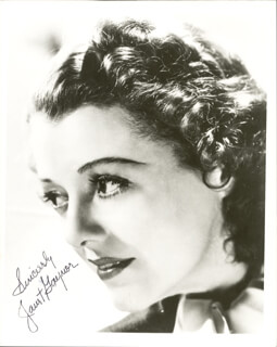 JANET GAYNOR - AUTOGRAPHED SIGNED PHOTOGRAPH