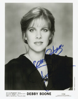 DEBBY BOONE - AUTOGRAPHED SIGNED PHOTOGRAPH