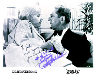 BILLIE MOVIE CAST - INSCRIBED PRINTED PHOTOGRAPH SIGNED IN INK CO-SIGNED BY: JIM BACKUS, PATTY DUKE